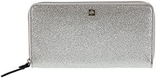 Kate Spade Mavis Street Neda Zip Around Silver Glitter Wallet Wlru2388