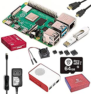 Marstudy Raspberry Pi 4 Model B Starter Kit(64GB Edition) /ラズベリーパイ4B(4GB RAM)/MicroSDHCカード64GB Raspberry Pi OSプリインストール/のプレ...