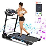 ANCHEER Treadmill, 3.25HP Folding Treadmills with APP Control and Automatic Incline, Running Walking Jogging Machine for Home/Office/Gym Cardio Use