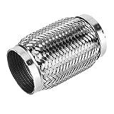 KSTE 3 x 6 Pulgadas Acero Flexi tubería Flexible de Escape del trozo de Tubo Corrugado con Interna