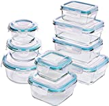 Utopia Kitchen Glass Food Storage Container Set - Royal Blue