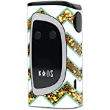 MightySkins Skin Compatible with Sigelei KAOS Spectrum Kit – Glitzy Chevron | Protective, Durable, and Unique Vinyl Decal wrap Cover | Easy to Apply, Remove, and Change Styles | Made in The USA
