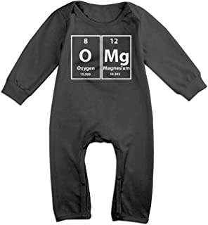NEWBABY The Chemistry of Bacon Unisex Baby Cotton Short Sleeves Triangle Romper Bodysuit for 0-24m Baby