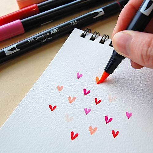 トンボ鉛筆筆ペンデュアルブラッシュペンABT24色セットベーシックAB-T24CBA