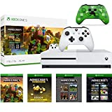 Microsoft Xbox One S 1TB Minecraft Creators Bundle with Minecraft Creeper Wireless Controller | 4K Ultra HD Blu-ray | Xbox One S 1TB Storage Console | Wireless Controller | Minecraft Game