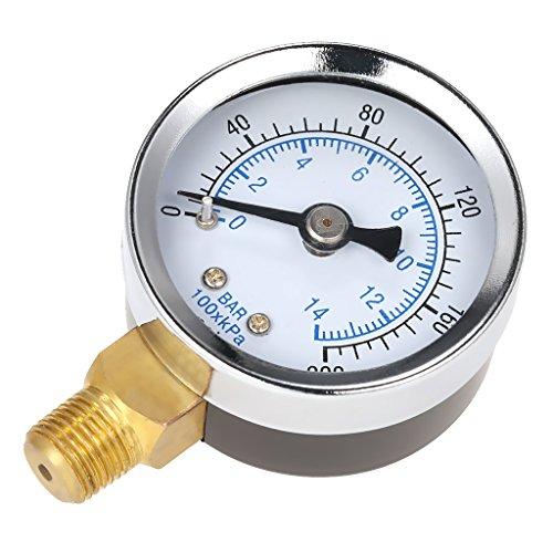 """1/8\"""" 0 200 PSI Manometer Hydraulic 1.5\""""Face Druckanzeige Ölzähler Ölmesser"""