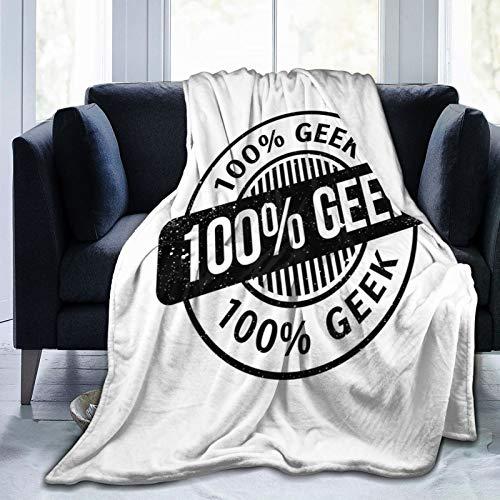 LASINSU Manta de Franela Suave,Patrón para un Cien por ciento de Frikis,Efecto Grunge,Aspecto estilizado,Cama de Camping para sofá 204x153cm