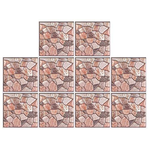 Vcriczk Papel Pintado, Adhesivo de Pared estereoscópico, PVC para la Sala de Estar del Dormitorio