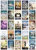 Edition Seidel Juego de 25 tarjetas postales de vida y momentos con refranes – Tarjetas con texto – regalo, amor, amistad, vida, motivación, tarjetas de cumpleaños imágenes en inglés