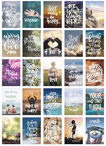 Edition Seidel Set 25 Postkarten Leben & Momente mit Sprüchen - Karten mit Spruch - Geschenk, Liebe, Freundschaft, Leben, Motivation, Geburtstagskarten Bilder englisch