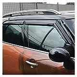 QUXING Derivabrisas para Mini Cooper Countryman F60 2017 2018 2019 ABS Ventana Visitas Toldos Lluvia Sun Deflector Guard Cubiertas Derivabrisas Deflectores