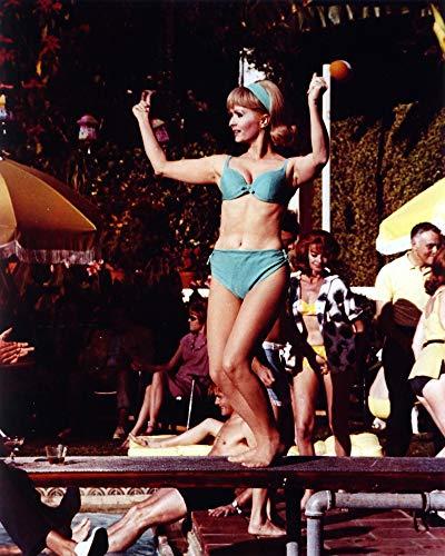 Posterazzi DAP16490 Debbie Reynolds- Light Blue Bikini with Headband Photo Print, 8 x 10, Multi