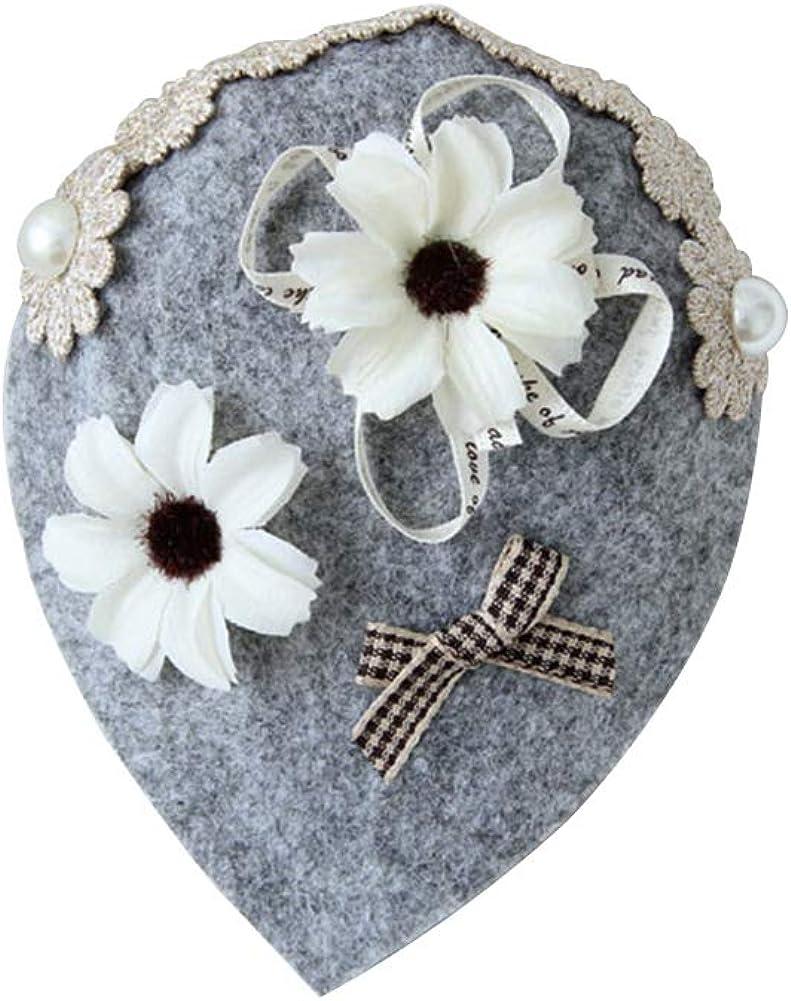 MOONYUE Girls Lolita Vintage Gothic Handmade Felt Hat Clip Hat Accessories