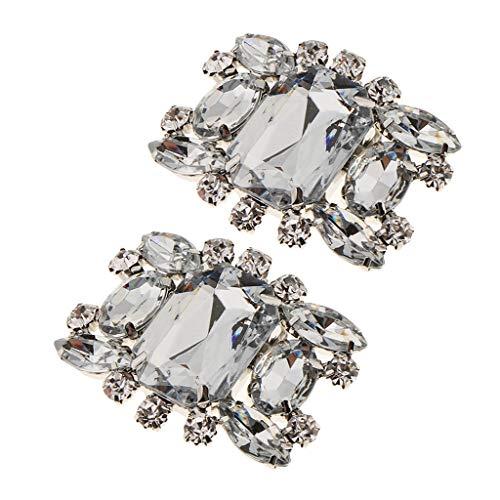 2 Piezas Clip de Zapato con Diamantes Artificiales Adorno para Zapatillas de...
