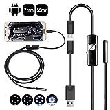 Luckyoiu 2 en 1 Micro USB Mini videocámaras Otoscopio Cámara de endoscopio 5.5 / 7MM Impermeable 6 LED Cámara de inspección de boroscopio para PC con teléfono Android