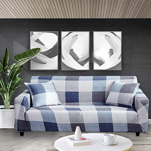 ASCV Funda de sofá elástica con Estampado Floral Fundas de sofá Fundas de sofá para Sala de Estar Sofá de Esquina Toalla Funda de sofá A7 3 plazas
