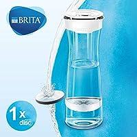 Karafka z filtrem BRITA biało-grafitowa, 1,3l, smaczna, czystsza woda bez chloru i zanieczyszczeń, pozostawia cenne minerały
