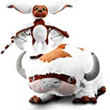 The Humble Brand Last Airbender Appa & Momo Plush Set - Cute, Soft, Fluffy Stuffed Fabric Plushie Toys - Collector- Avatar Quality Character Figures for Play & Display - 22-Inch Bison, 11-Inch Lemur