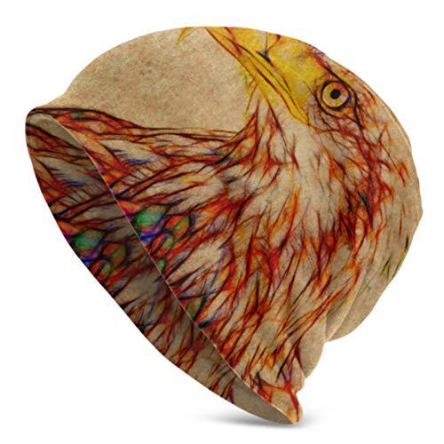 Skull Cap Fractal Bald Eagle Adult Knit Hat Beanie Hat Jerseys para Hombres y Mujeres