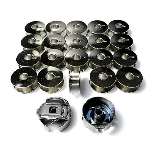 2 cajas de bobinas y 20 bobinas de acero para Juki Tl98 98E 98Q Singer 20U 188U PFAFF: Hobby Grand Quilter HGQ