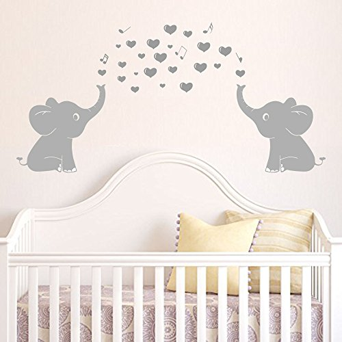 Elephant Family Wall Decal Spit Bubbles Wall Decals Nursery Decor Kids Wall Sticks