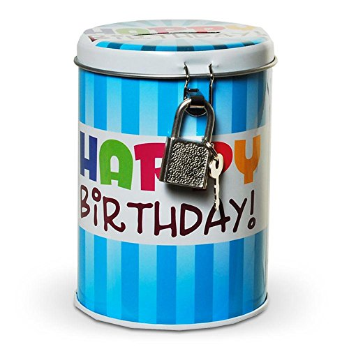 Hucha metal Happy Birthday