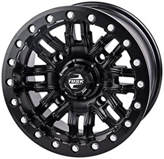 4/156 Tusk Nebo Beadlock Wheel 14x7 4.0 + 3.0 Matte Black for Polaris RANGER RZR XP 4 1000 2014-2018