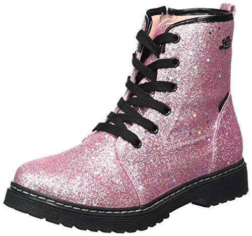 Lico Sarina Hip Mädchen Mode-Stiefel, Anthrazit/ Rosa, 38 EU