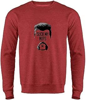 Pop Threads Abraham Suck My Nuts Crewneck Sweatshirt for Men