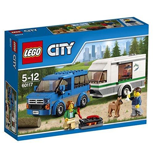 LEGO City 60117 - Van und Wohnwagen, Bausteinspielzeug