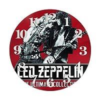 壁時計 Led Zeppelin 円形掛け時計 静音設計 連続秒針 ウォールクロックノンフレーム 寝室 店舗 家 部屋装飾 簡単 シンプル おしゃれ ギフト, 直径25cm