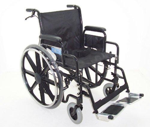 Z-Tec Folding Heavy Duty Extra Wide Wheelchair Seat Width 20-inch