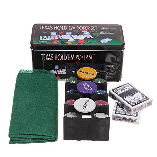 WAGX Poker Conjunto de Chips, 200PCS Texas Hold'em Poker...
