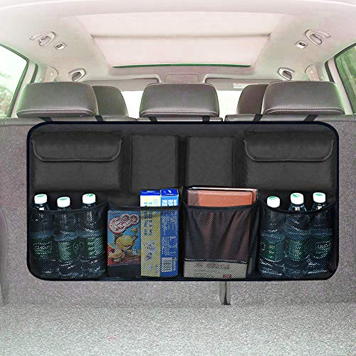XBRN Car Organizer Backseat Trunk Storage, Auto Hanging Back Seat Storage, Car Cargo Trunk Storage Organizer Bag,Bag Back Seat Organizer for Kids, Multipurpose Cargo Accessories SUV & Car Organizer