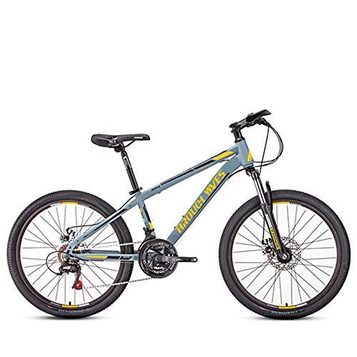 Clouds Bicicleta de montaña de 24 Pulgadas, Marco de Aluminio Ligero de 21 velocidades, Bicicleta de montaña Unisex, Freno de Disco Doble, Bicicletas de Carreras, para entusiastas del Ciclismo
