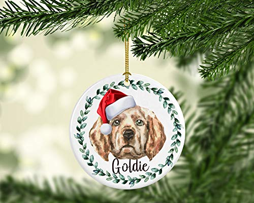 Golden Retriever Hond Gepersonaliseerde Hond Ornament Gepersonaliseerde Hond Kerstmis Ornament Hond Vakantie Ornament Huisdier Ornament Gepersonaliseerd