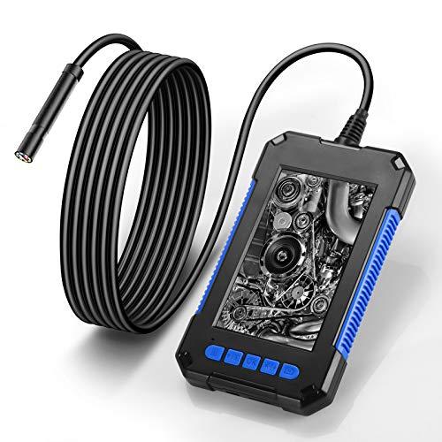 LIDIWEE Endoskopkamera mit Licht 2M, HD 5.5mm inspektionskamera Kabel Rohrkamera mit 6 LED Licht wasserdichte Endoskop Kamera Industrieendoskop, 4,3 Zoll IPS Farb Bildschirm