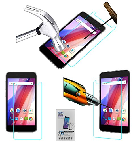 Acm Tempered Glass Screenguard Compatible with Panasonic Eluga I2 Activ Screen Guard Scratch Protector