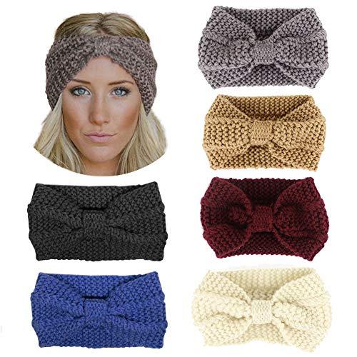 Zocone Haarband van wol, 6 stuks haarband, winterhaarband voor dames, winter, winter, haarband, voor dames B