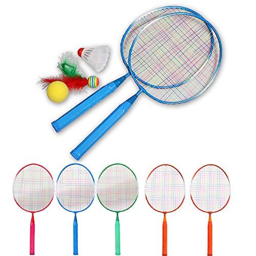 Crewell 1 Paar Kinder Tennis Badminton Schläger Ball Set Sport Familienspiel Spielzeug Kinder Badminton Schläger