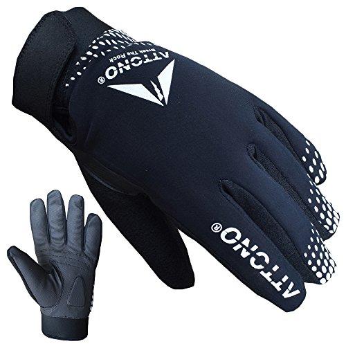 ATTONO Fahrradhandschuhe Winter Fahrrad Mountainbike Handschuhe - Größe S
