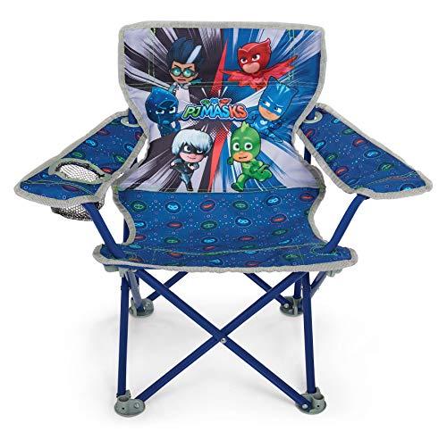 折りたたみ式キャンプチェア PJ Masks 折り畳み椅子 頑丈な金属構造 (開けやすい ハンディカップホルダー 掃除可能な素材 キャリーバッグ) 対象年齢3歳以上 601591-1SOC