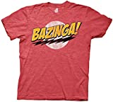 The Big Bang Theory Bazinga! Mens Red Heather T-Shirt M