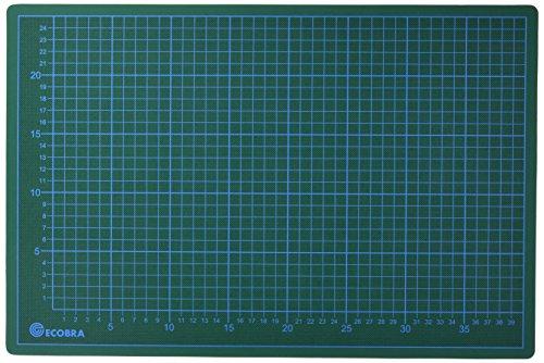 Ecobra 704530 - Base de corte con plantilla 45 x 30 cm, color verde/negro