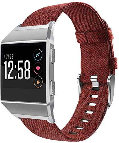 Gransho Correas Reloj Lona Compatible con Fitbit Ionic | para Hombre y Mujer (Pattern 7)