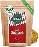 Guarana Pulver Bio - 100g reines Guaranapulver - Energizer - garantiert ohne Zusatzstoffe - hergestellt und kontrolliert in Deutschland (DE-ÖKO-005) - 100% Vegan