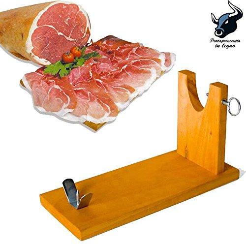 Houten hammenhouder voor ham en snijplank, demonteerbaar, kleur houtvoor het snijden van ham Banco