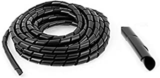 Black /& Clear Wires Binding Cable Tidy Spiral Wrap *Top Quality! Leads