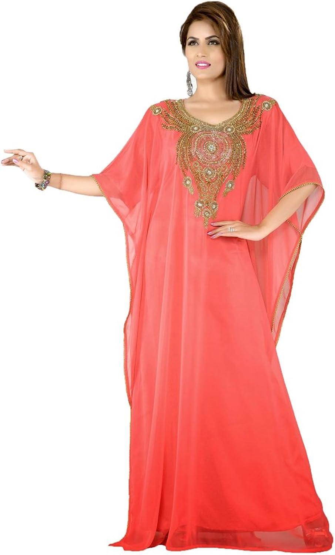 Kolkozy Fashion Women's Muslim Ethnic Party Wear Kaftan Dress