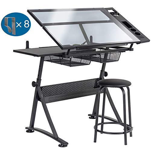 D4P Display4top Tiltable Tabletop Drawing Table Drafting Easel -...